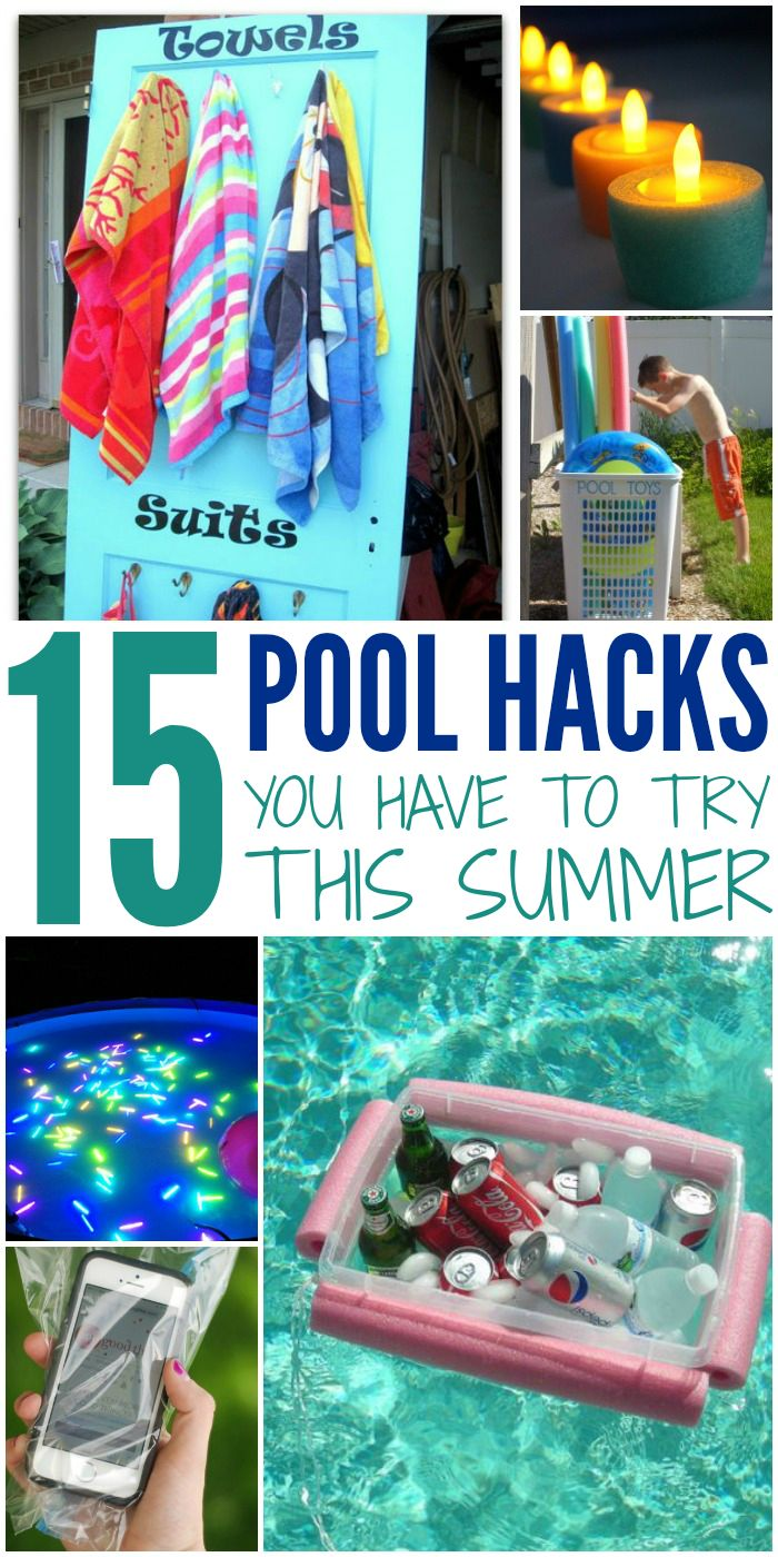 Summer time hacks for when you're out by the pool. Super fun ways to enhance your pool time this summer!