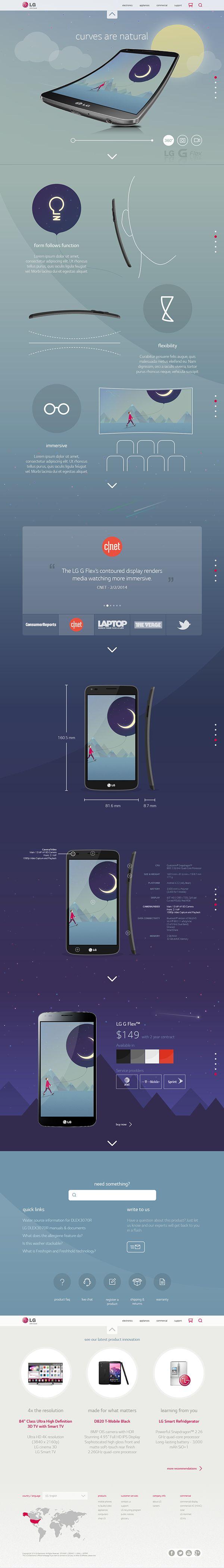 LG by Vince de Asis, via Behance #web #design
