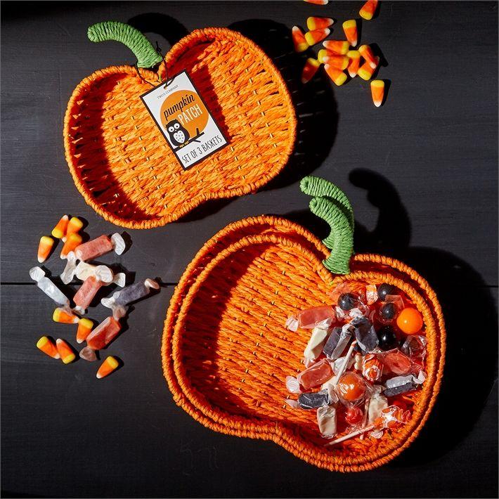 Set of 3 Pumpkin Baskets © Two's Company