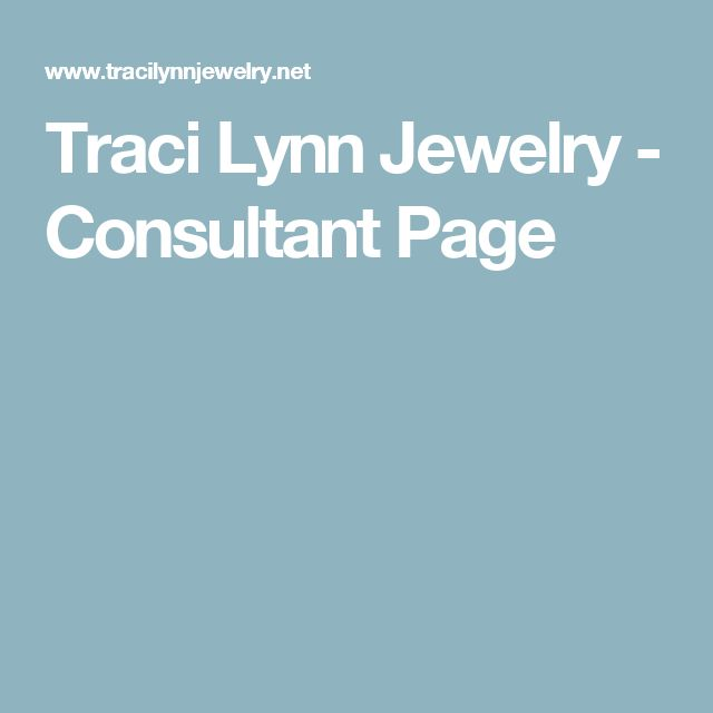 Traci Lynn Jewelry - Consultant Page