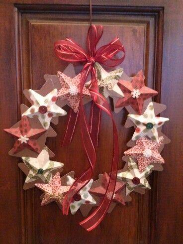 My paper star wreath