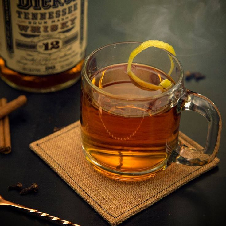 Help yourself to a Hot Toddy with George Dickel Whiskey. All you need is a shot of No. 12, spoonful of honey, slice of lemon, cinnamon stick, dash of nutmeg and a few cloves (if you're feeling fancy).