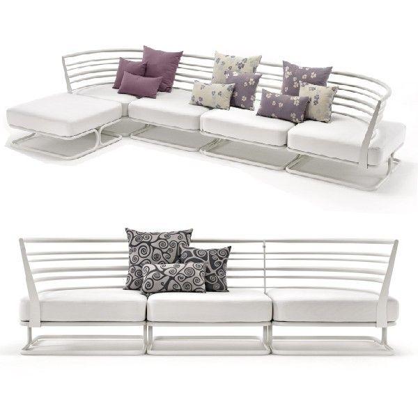 white sofa'