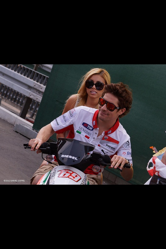 Jackie Marin And Nicky Hayden Doing What They Love