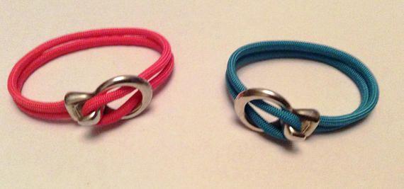Bracelet corde esprit Marin rose corail