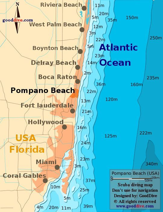Map Of Florida Showing Boca Raton.Pompano Beach Fl Pompano Beach Map Gooddive Com Fun In Fort