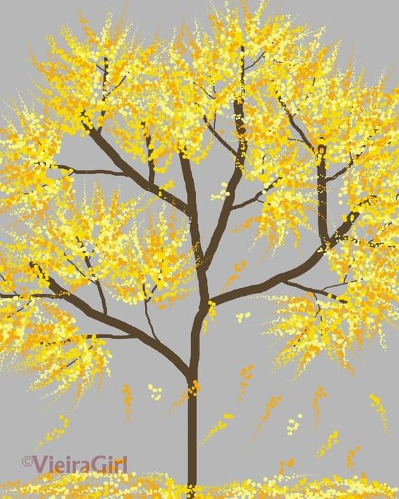 Wattle Tree painting