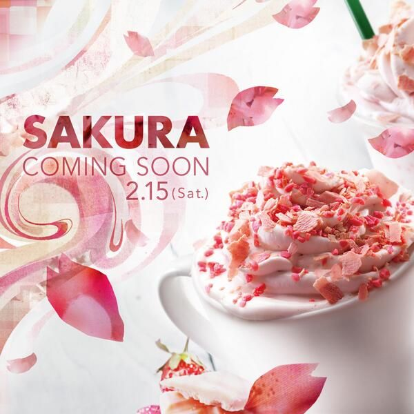 "Starbucks Strawberry Chocolate Latte ""Sakura"" , Japan"