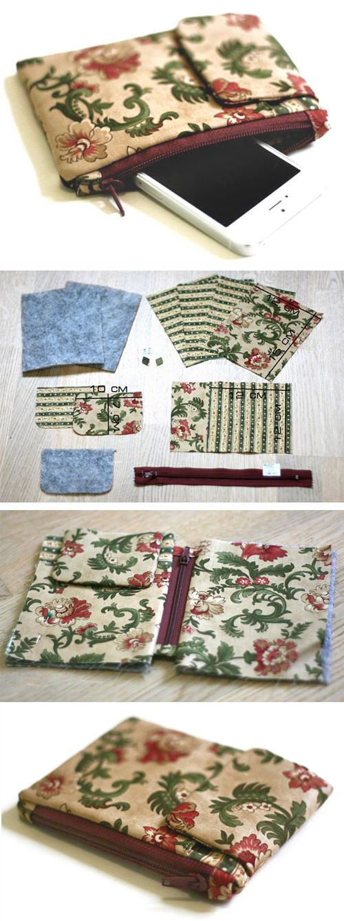 Sewing a Cute Phone Case with Your Own Hands  http://www.handmadiya.com/2016/03/case-organizer-for-your-phone-tutorial.html