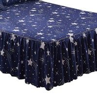 Wish | 1 Piece Bed Skirt King Queen Twin size,Star bed sheet bedding Lace Bed skirt,mattress cover,Bedspread #AY15