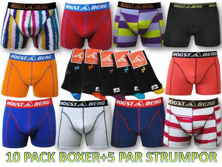 10 Pack Högstaberg  Boxershorts +5 Par Strumpor