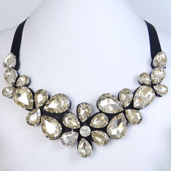 Rhinestone Collar collar de Topacio cristal de por BellaJewelry4u, $13.99