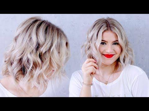 Peinado Como Hacer Ondas En Pelo Corto Bob Con Plancha Youtube En 2019 Pelo Corto Con Ondas