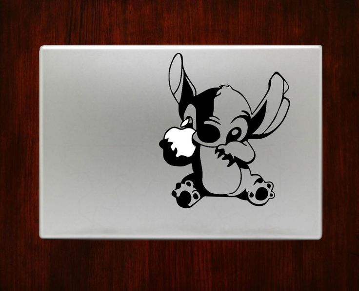 Stitch holding apple disney cute decal sticker for macbook 13 15 inch pro air rusticdecal