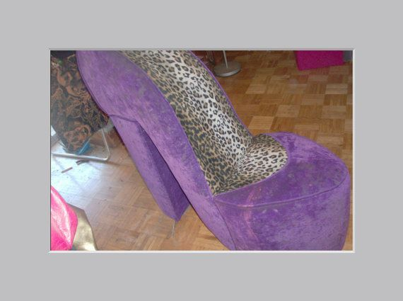 Lovely Vintage High Heel Shoe Chair Sofa Purple By PatsapearlsBoutique, $239.99