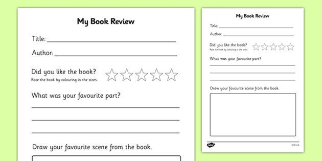 write a book review ks14