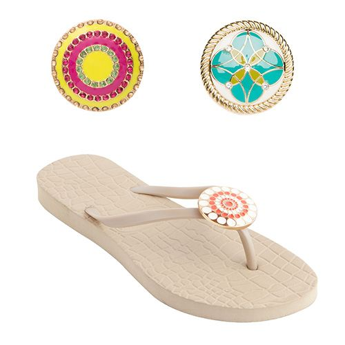 Beige Flip-Flops and Snaps - Set 2 by Lindsay Phillips | StyleMined - Extra Hot Deals | As Seen On Extra