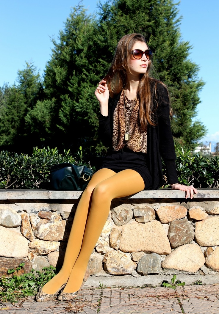 Yellow tight look OK, because she wears neutrals w…