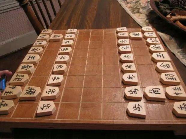 Lo shogi è un gioco strategico giapponese da tavolo, simile agli scacchi e ai cinesi xiangqi, derivanti dall'antico gioco indiano del chaturanga, del VI secolo. È talvolta definito come scacchi giapponesi. La prima lettera rappresenta il pezzo mosso: P=pedone, L=lancia, N=cavallo (knight), S=generale argento (silver), G=generale oro (gold), B=alfiere (bishop), R=torre (rook), K=re (king).