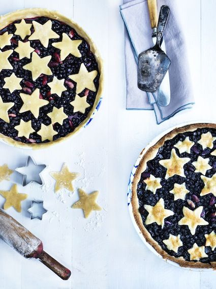 Blueberry pie with star topping