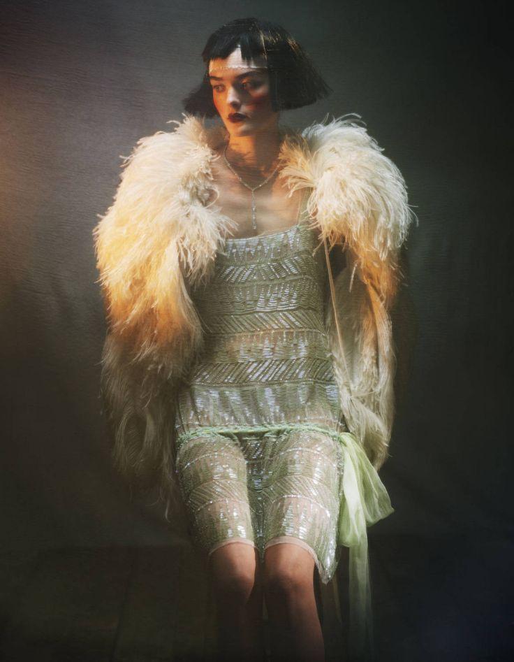 '20's-20's Vision' - Alberta Ferreti dress with Gucci cape | photo by Damian Foxe | February 2012