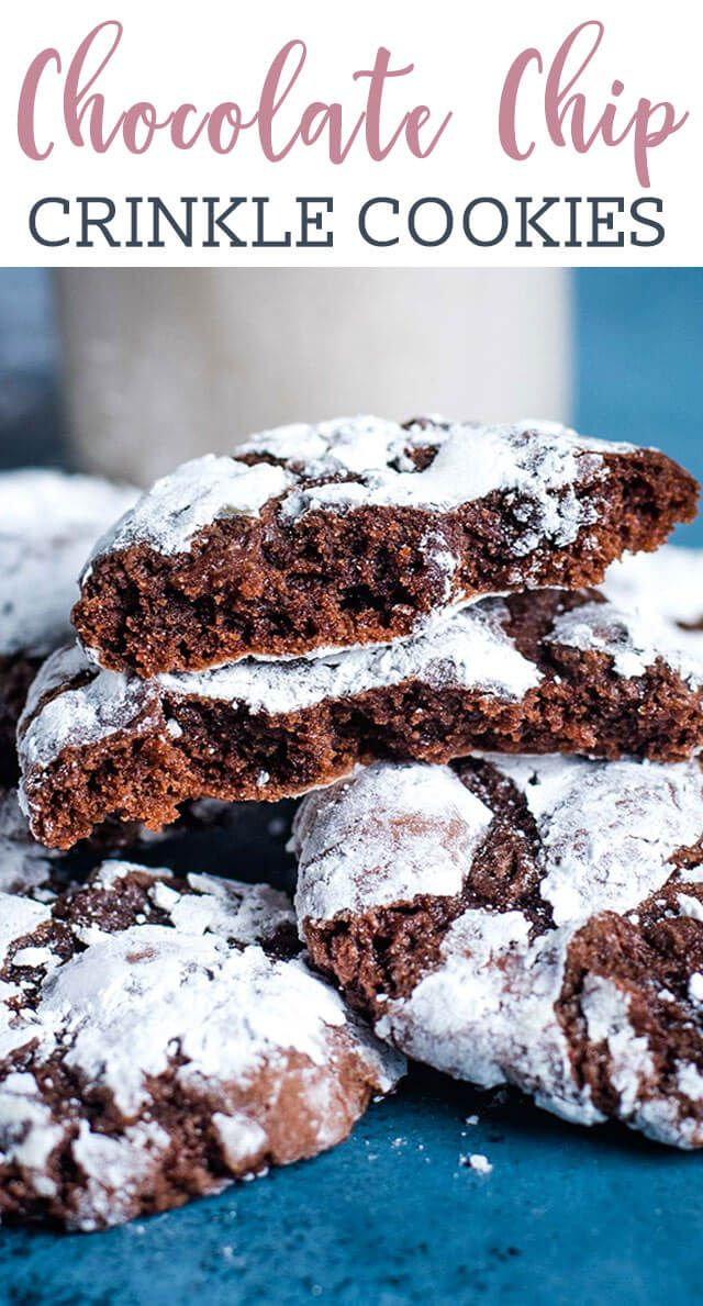 Chocolate Crinkle Cookies Are Chewy Fudgy Chocolate Christmas