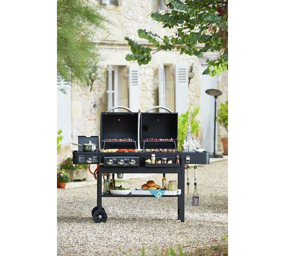 Buy Dual Fuel Charcoal and Gas Combo Grill at Argos.co.uk, visit Argos.co.uk to shop online for Outdoor smokers, Barbecues and garden heating, Home and garden