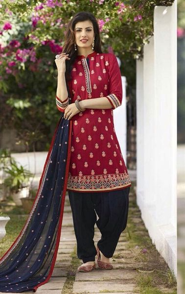 Ravishing Maroon Patiala Salwar kameez