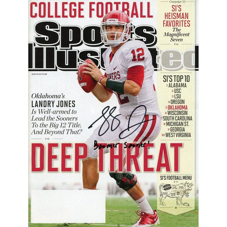 Landry Jones Oklahoma Sooners Fanatics Authentic Autographed Sports Illustrated Magazine with Boomer Sooner Inscription