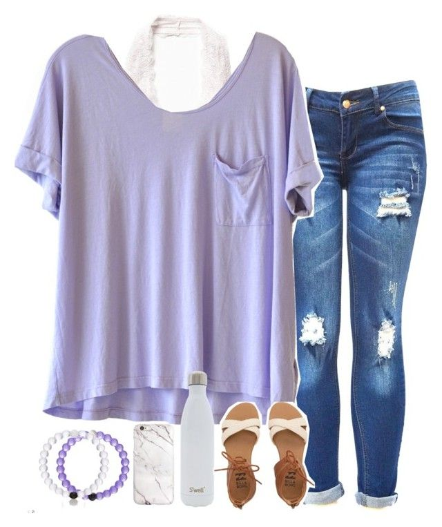 """""""love yourself"""" by sarahc01 ❤ liked on Polyvore featuring Free People, Clu, S'well and Billabong"""