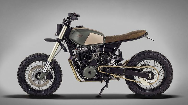 Wow! Honda Dominator NX650 Street Tracker by Ton-Up Garage #motorcycles #streettracker #motos | caferacerpasion.com