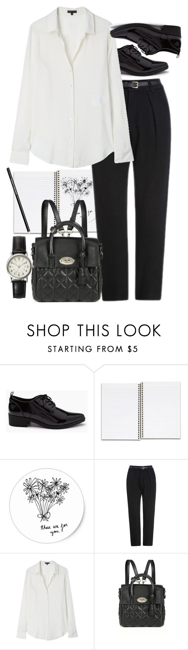 """Untitled #8799"" by nikka-phillips ❤ liked on Polyvore featuring mode, Forever 21, Theory, Mulberry et FOSSIL"