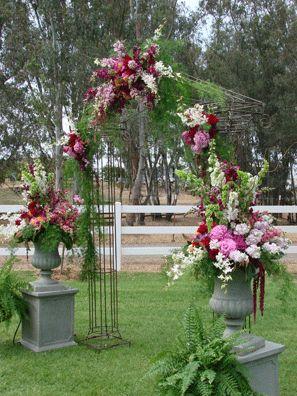 204 best church wedding decorations images on pinterest flower church wedding decorations altar flowers spray junglespirit Choice Image
