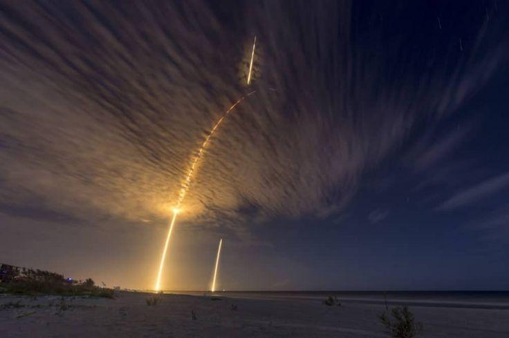 L'envol d'une fusée