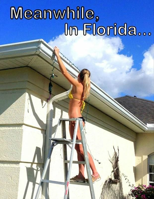 Hanging Christmas lights in a bathing suite. Original Source ...
