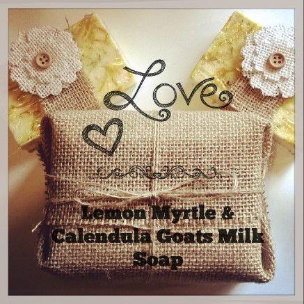Lemon Myrtle & Calendula Goats Milk Soap