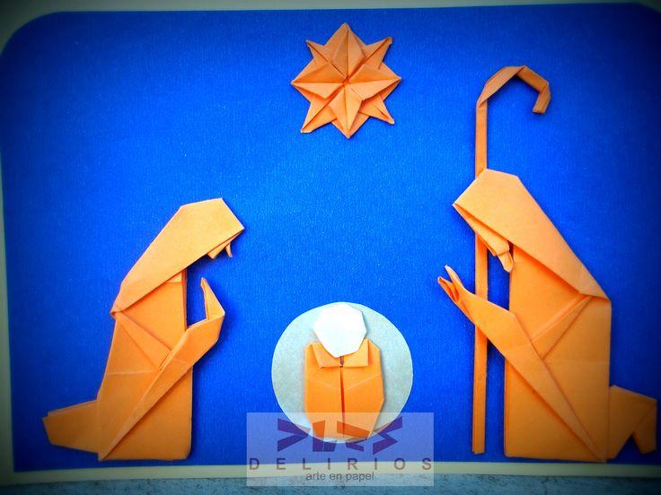 Origami Navidad. Pesebre by Delirios arte en Papel.