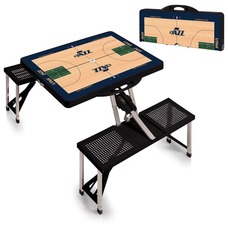 The Portable NBA Black Utah Jazz Picnic Table Sport is a compact fold-out table with bench seats for four that you can take anywhere. Free Shipping. Visit SportsFansPlus.com for Details.