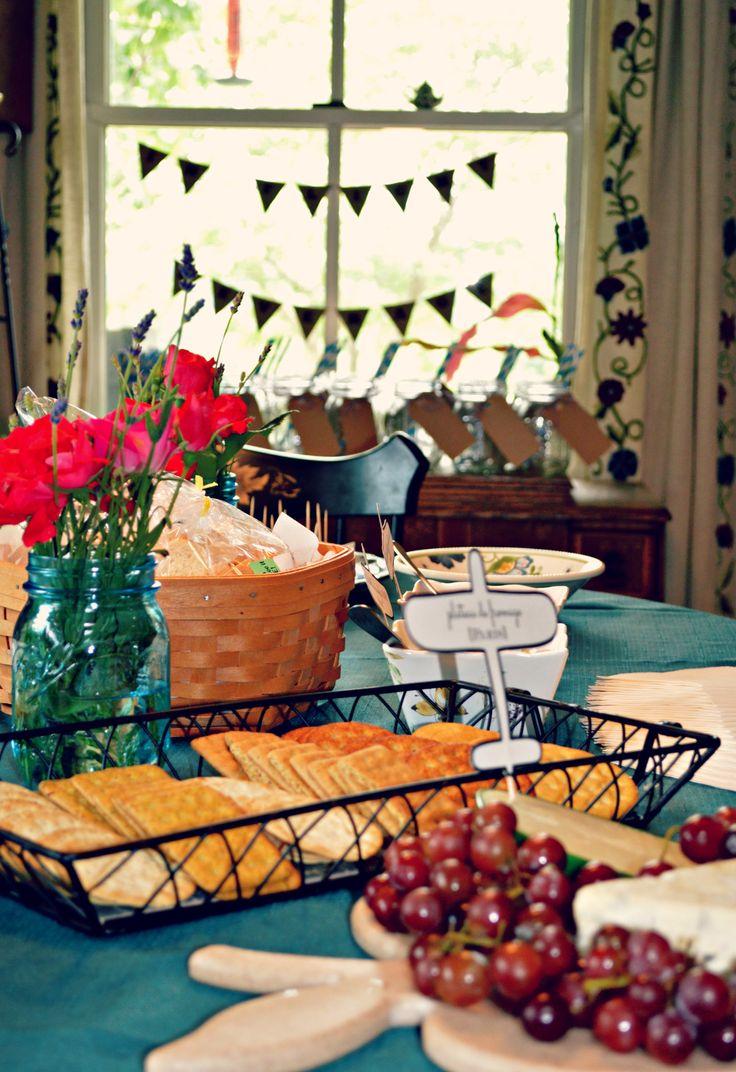 Travel Themed Bridal Shower - International Food