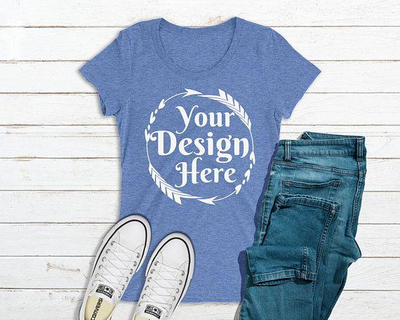 Download Free Bella Canvas 8413 Blue Triblend T Shirt Mockup Psd Free Psd Mockups Shirt Mockup Clothing Mockup Tshirt Mockup