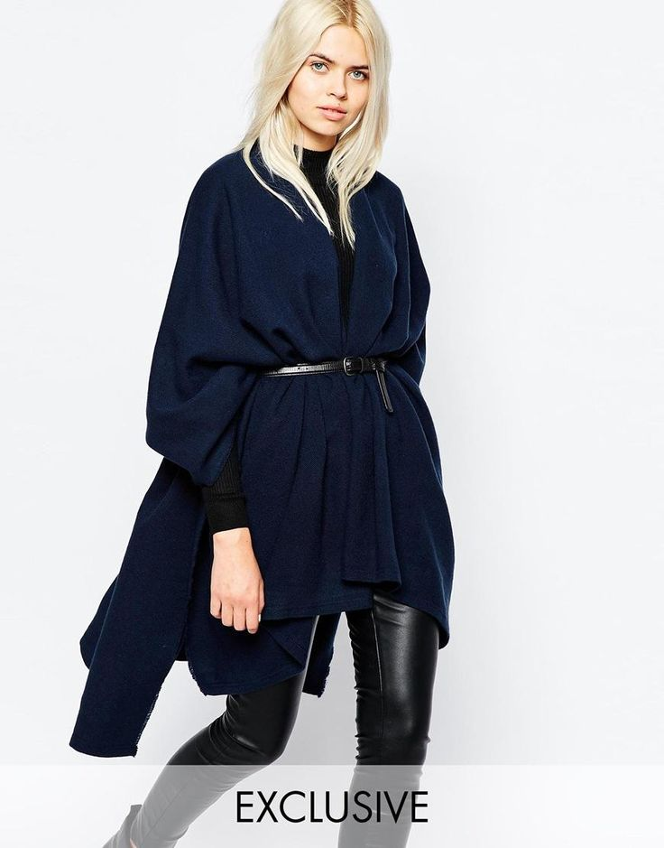 Monki | Monki Fine Knit Poncho at ASOS