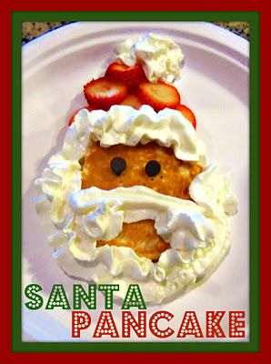 FuN Christmas Breakfast Ideas - santa pancake