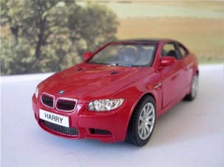 Personalised Plates Gift Burgundy BMW M3 Coupe Boys Toy Car.With any name or number you wish
