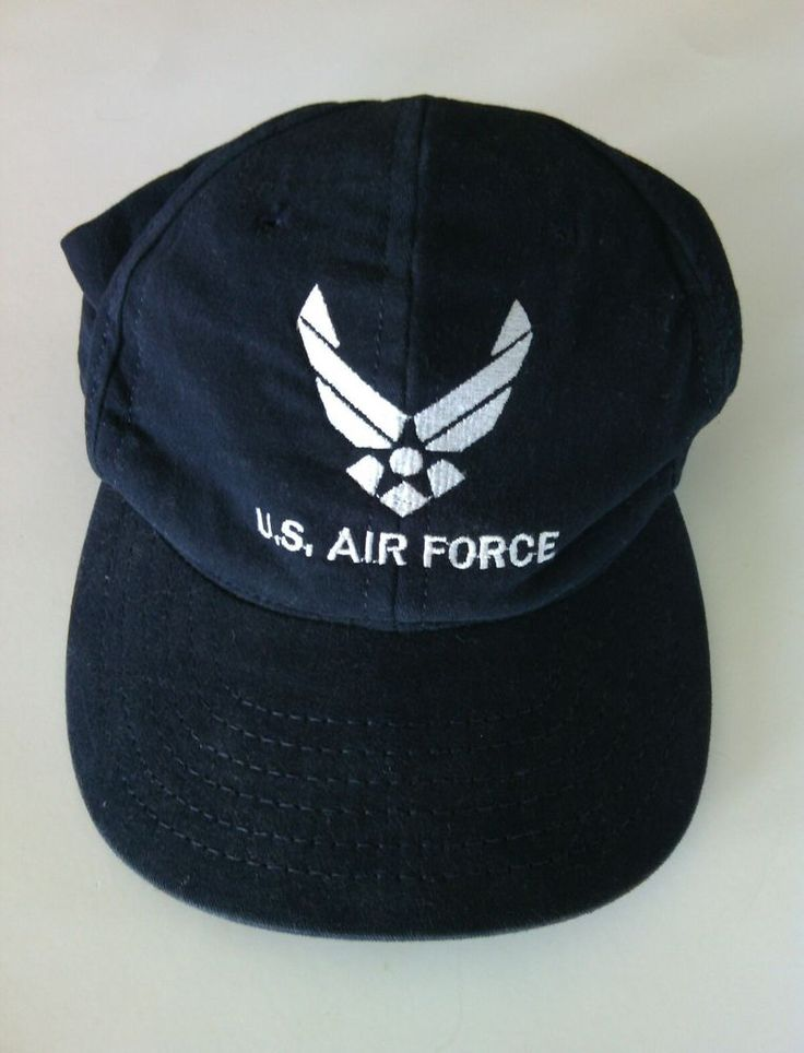 U.S Air Force Baseball Cap Classic Hat Size 7.1/2 Navy Blue Embroidered Sports  | eBay