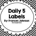 These are perfect to print, laminate, and add to a pocket chart or bins for Daily 5 rotations!   Daily 5 Stations included: Read to self Buddy Read...