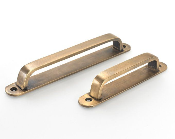 brass drawer handles, brass pulls, vintage drawer pull ...