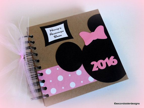Custom Personalized Disney Autograph Book and scrapbook by secondsisterdesigns. Add your photos next to your autographs and show off this vacation keepsake for many years to come. Perfect for your princess! Better than DIY, save time and money-order yours today!