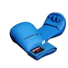 Belts and Sashes 73981: Adidas Wkf Approved Karate Mitts-Color: Blue W Thumbs-Size: Large -> BUY IT NOW ONLY: $36.7 on eBay!