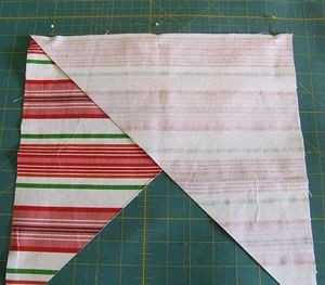 how to cut a continuous bias strip. i always forget how to do this!