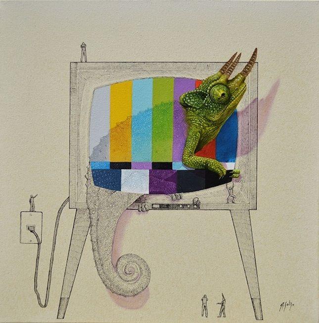 Art Obsession: Ricardo Solis' Imaginative Animal Illustrations via Brit + Co.